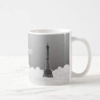 Romantic Eiffel Tower Floating In Cloud Coffee Mugs