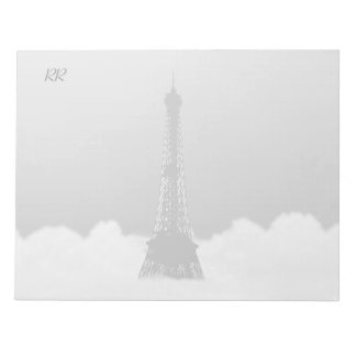 Romantic Eiffel Tower Floating In Cloud Memo Pads