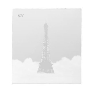 Romantic Eiffel Tower Floating In Cloud Notepad
