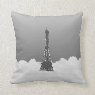 Romantic Eiffel Tower Floating In Cloud On Pillow at Zazzle