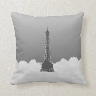 Romantic Eiffel Tower Floating In Cloud On Pillow