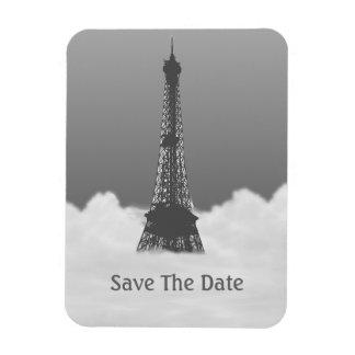 Romantic Eiffel Tower Floating In Cloud Rectangular Magnet