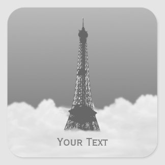 Romantic Eiffel Tower Floating In Cloud Stickers