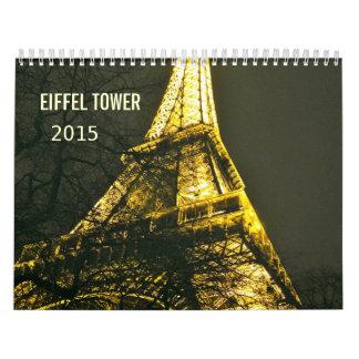 Romantic Eiffel Tower Paris 2015 Wall Calendar