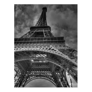 Romantic Eiffel Tower Paris Photo Postcard