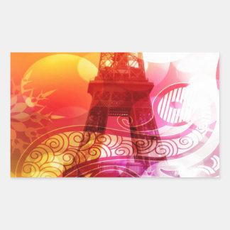 Romantic Eiffel Tower Rectangular Sticker