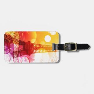 Romantic Eiffel Tower Travel Bag Tag