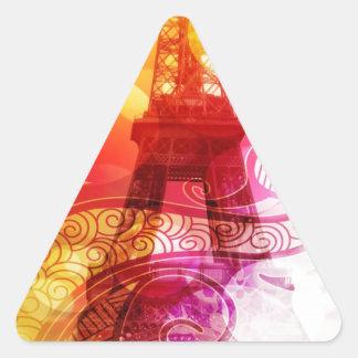 Romantic Eiffel Tower Triangle Sticker