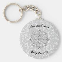 Romantic Elegance Floral Keychain