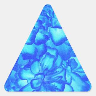 Romantic Elegant Beautiful Blue  White Victorian Triangle Sticker