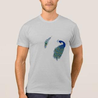 Romantic Elegant Blue Peacock Feathers Shirt