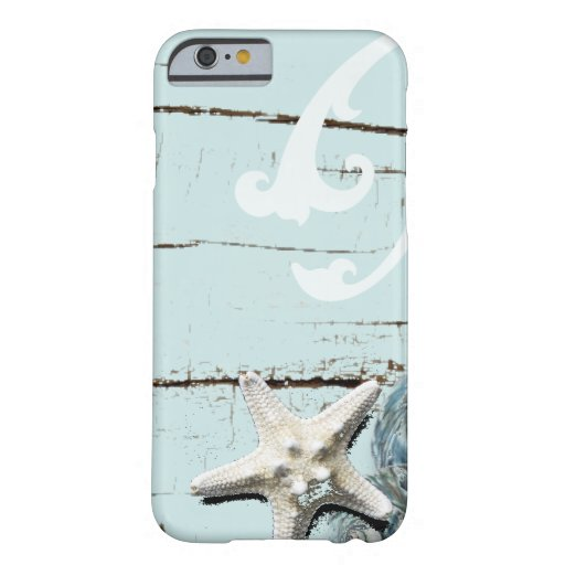 Romantic Elegant blue Seashell Beach decor iPhone 6 Case