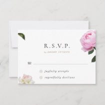 Romantic Elegant Roses Wedding RSVP Card