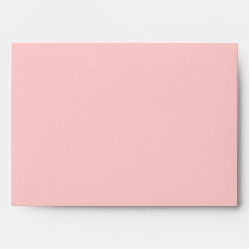 romantic elegant spring pink rose floral wedding envelopes