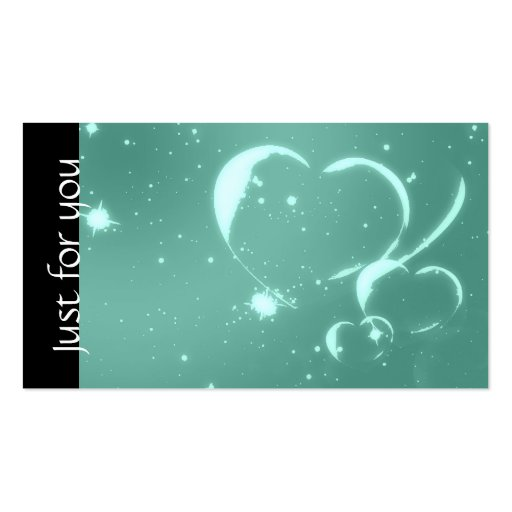Romantic Emerald Hearts Spa Business Gift Cards Business Card