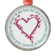 Romantic Endless Love Quote Ornament
