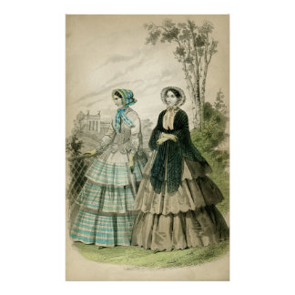 Romantic Era Fashion Print