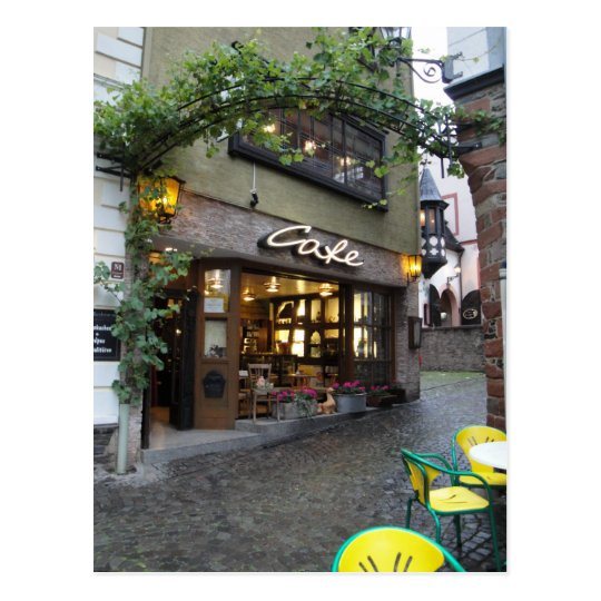 Romantic European Street Postcard