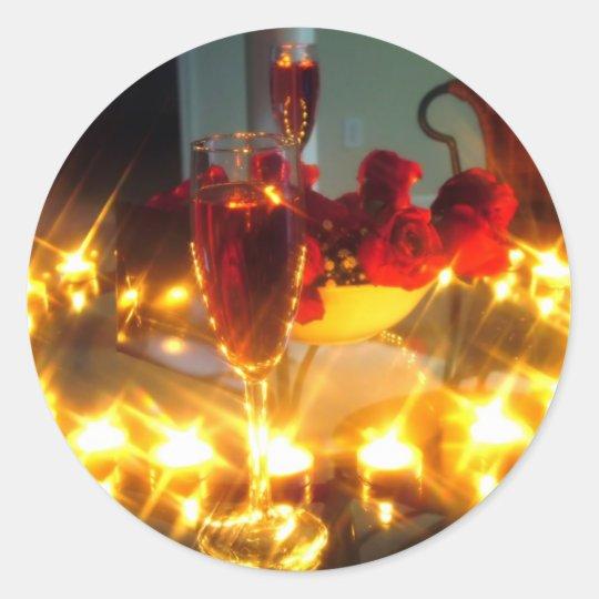 Romantic Evening Classic Round Sticker