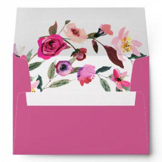 Romantic Fairytale Blossom Bouquet Lined Wedding Envelope