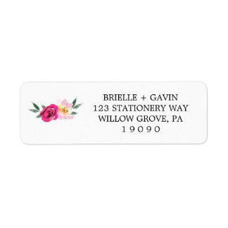 Romantic Fairytale Blossom Bouquet Wedding Label