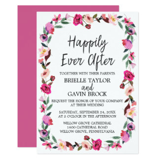 Romantic Fairytale Happily Ever After Wedding Card