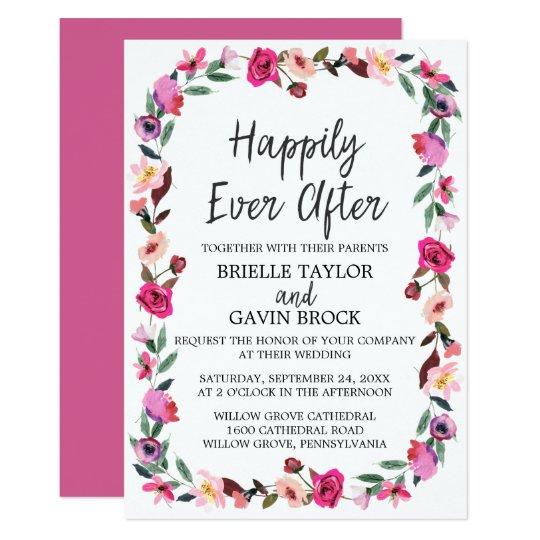 Romantic Fairytale Happily Ever After Wedding Invitation Zazzle Com