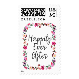 "Romantic Fairytale ""Happily Ever After"" Wedding Postage"