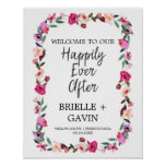 "Romantic Fairytale ""Happily Ever After"" Wedding Poster"