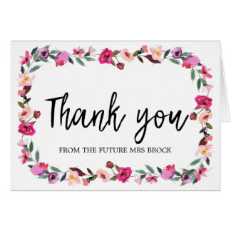 Romantic Fairytale Thank You From the Future Mrs Card