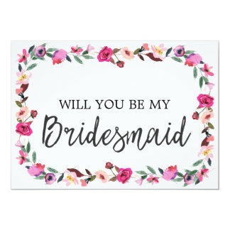 Romantic Fairytale Will You Be My Bridesmaid Card