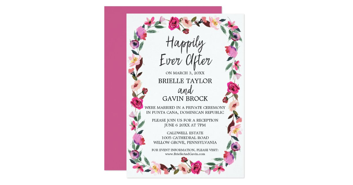 Elopement Invitations Announcements – Reception Party Invitations