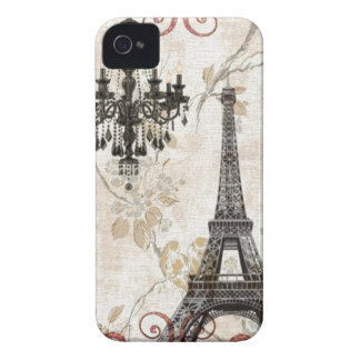 Romantic Fall Autumn Leaves Paris Eiffel Tower iPhone 4 Case