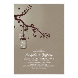 Romantic fireflies mason jar wedding invitation 5