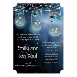 Romantic Firefly Mason Jar Wedding Cards