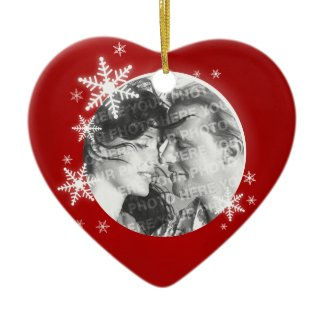 Romantic First Christmas Photo ornament ornament