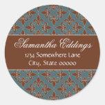 Romantic Fleur de Lis Address Label Sticker