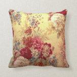 Romantic Floral Bouquet Throw Pillows
