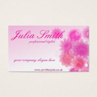 Romantic floral business card