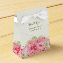 Romantic Floral Design Wedding Favor Boxes