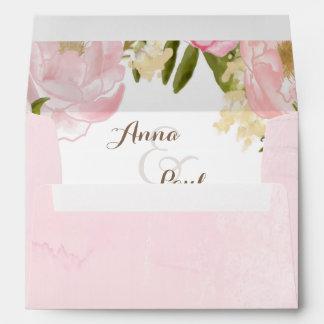 Romantic floral envelope