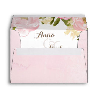 Romantic floral envelope