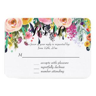 Romantic Floral Garden Watercolor RSVP Card