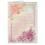 Romantic floral greeting card