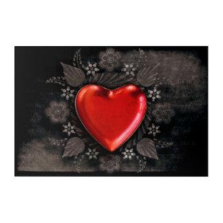 Romantic Floral Heart Valentine Love Acrylic Print