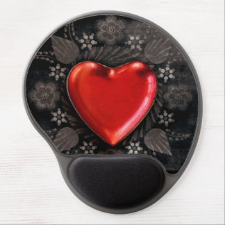 Romantic Floral Heart Valentine Love Gel Mouse Pad