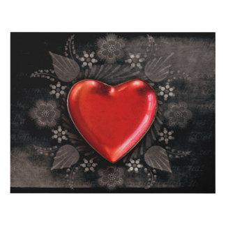 Romantic Floral Heart Valentine Love Panel Wall Art