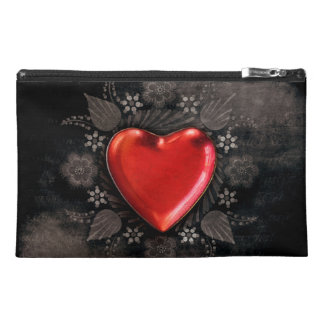 Romantic Floral Heart Valentine Love Travel Accessories Bags