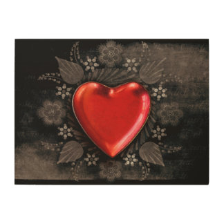 Romantic Floral Heart Valentine Love Wood Wall Decor