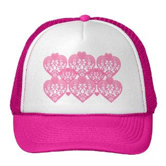 Romantic Floral Hearts Trucker Hats